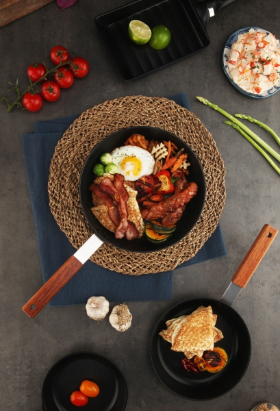 Black Edge IH Fry pan & Wok