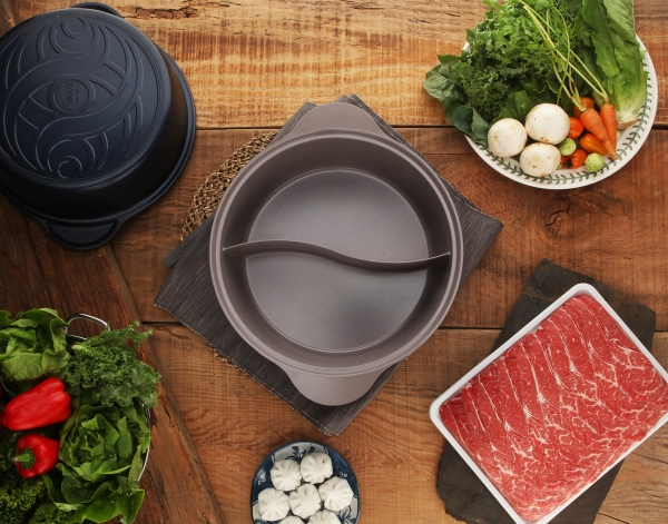 Kitchenwell Dual Shabu-Shabu Ceramic Pot